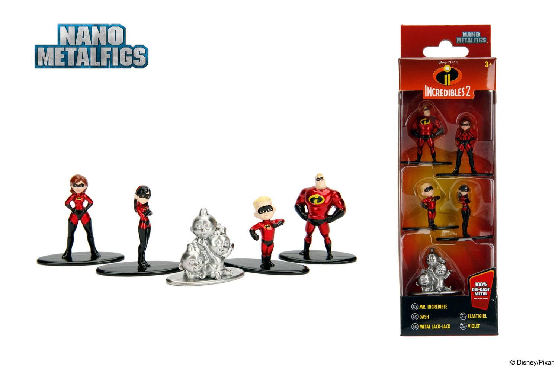 Disney Nano Metalfigs Diecast Mini Figures 5-Pack Incredibles 2 4 cm