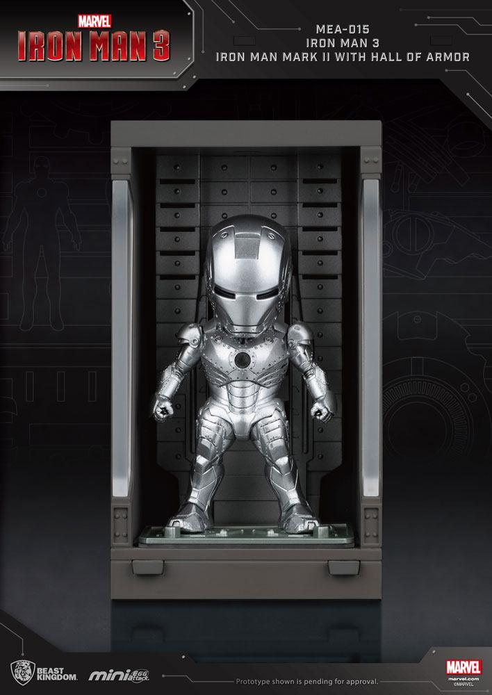 Iron Man 3 Mini Egg Attack Action Figure Hall of Armor Iron Man Mark II 8 cm