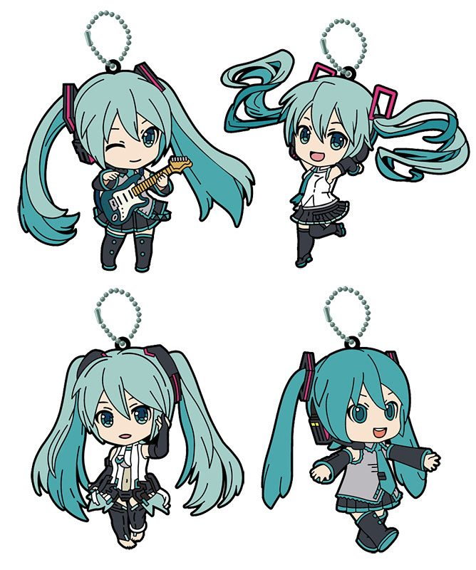 Hatsune Miku Nendoroid Plus Rubber Charms 6 cm Assortment (4)