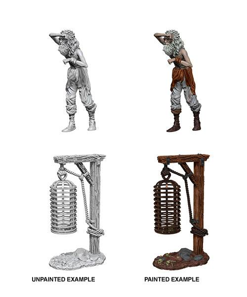 WizKids Deep Cuts Unpainted Miniature Hanging Cage Case (6)
