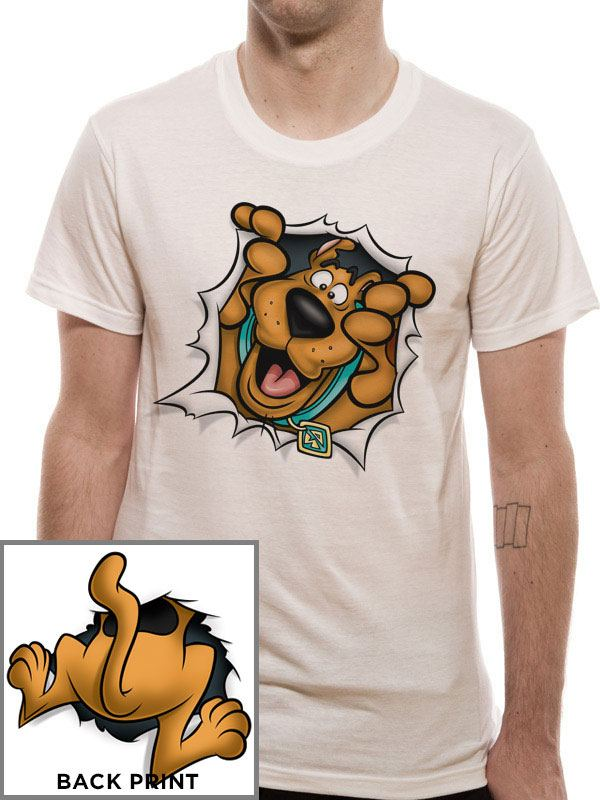 Scooby Doo T-Shirt Rip Through Size L