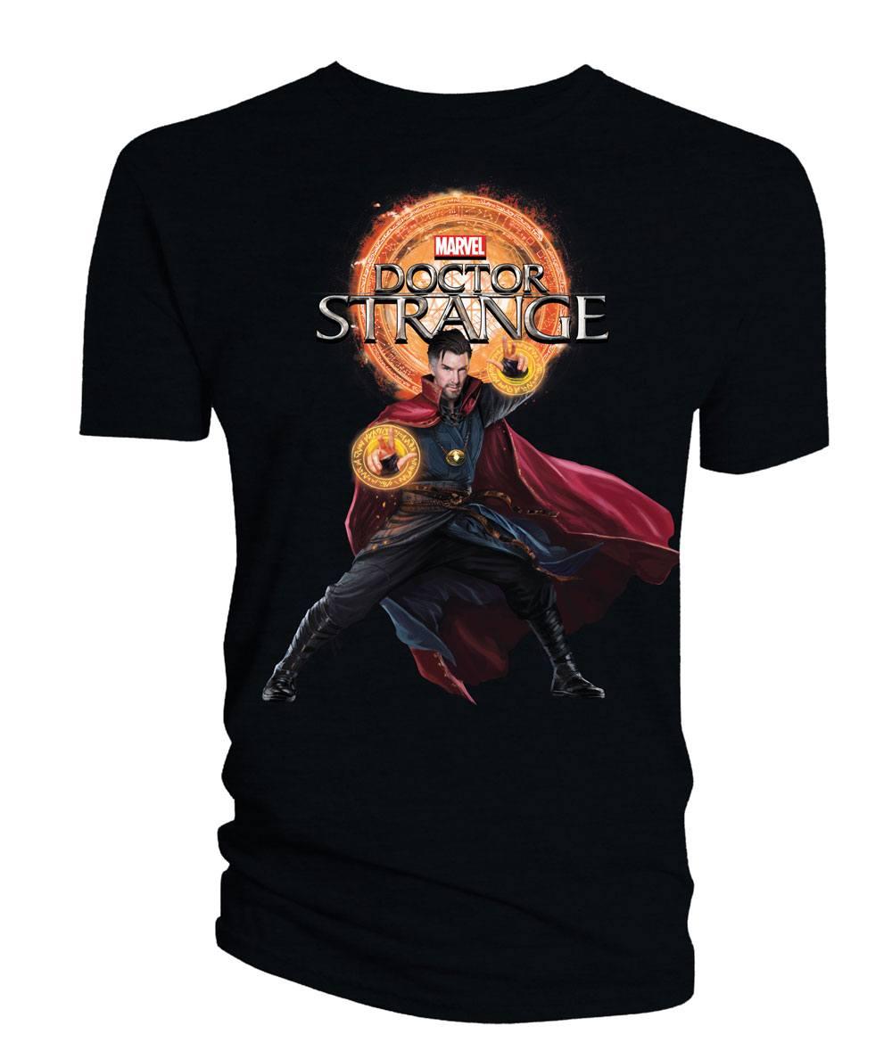 Doctor Strange T-Shirt Doctor Strange & Logo black Size S