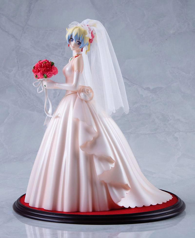 Tengen Toppa Gurren Lagann PVC Statue 1/8 Nia Teppelin Wedding Dress Version 26 cm --- DAMAGED PACKAGING
