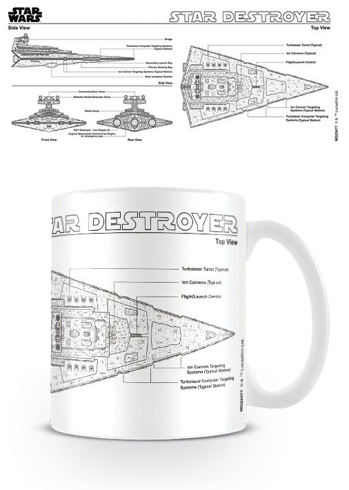 Star Wars Mug Star Destroyer Sketch