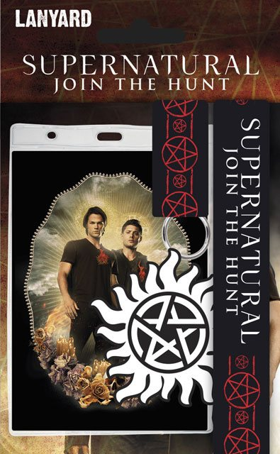 Supernatural Lanyard with Rubber Keychain Winchesters