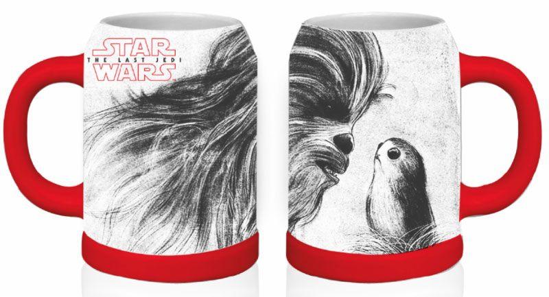 Star Wars Episode VIII Basic Stein Chewbacca & Porg