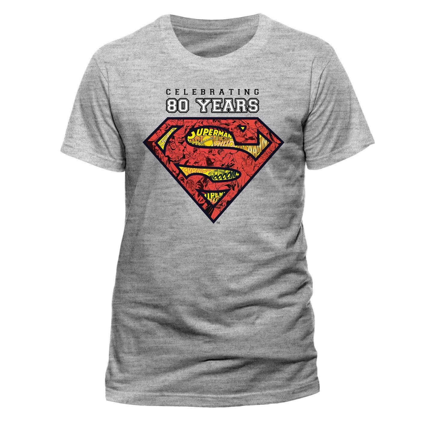 Superman T-Shirt Celebrating 80 Years Size S