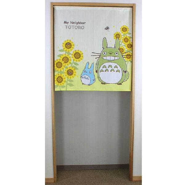 My Neighbor Totoro Japanese Doorway Curtain Totoro & Sunflowers