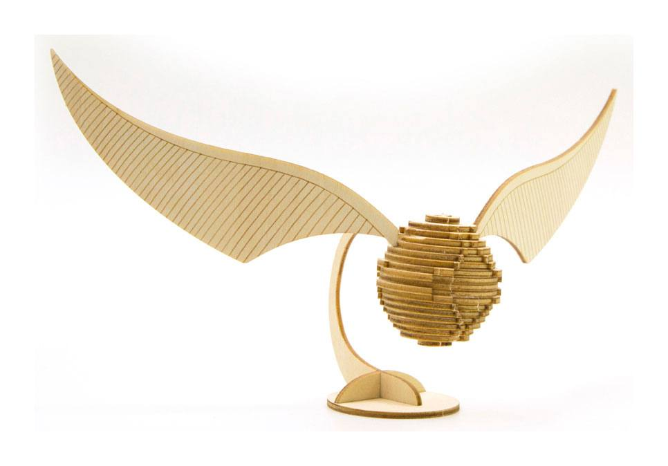 Harry Potter IncrediBuilds 3D Wood Model Kit Golden Snitch