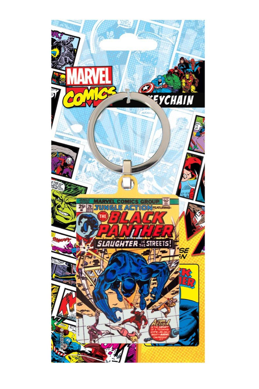 Marvel Comics Metal Keychain Black Panther 6 cm
