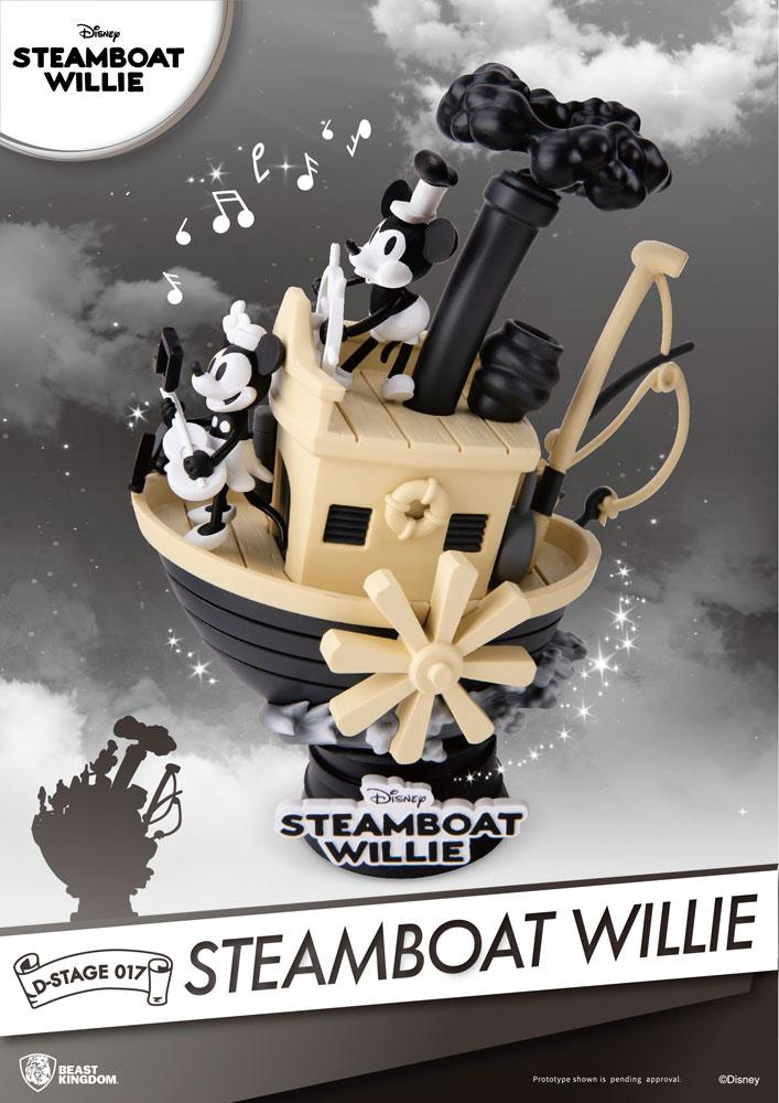 Steamboat Willie D-Stage PVC Diorama Mickey & Minnie 15 cm