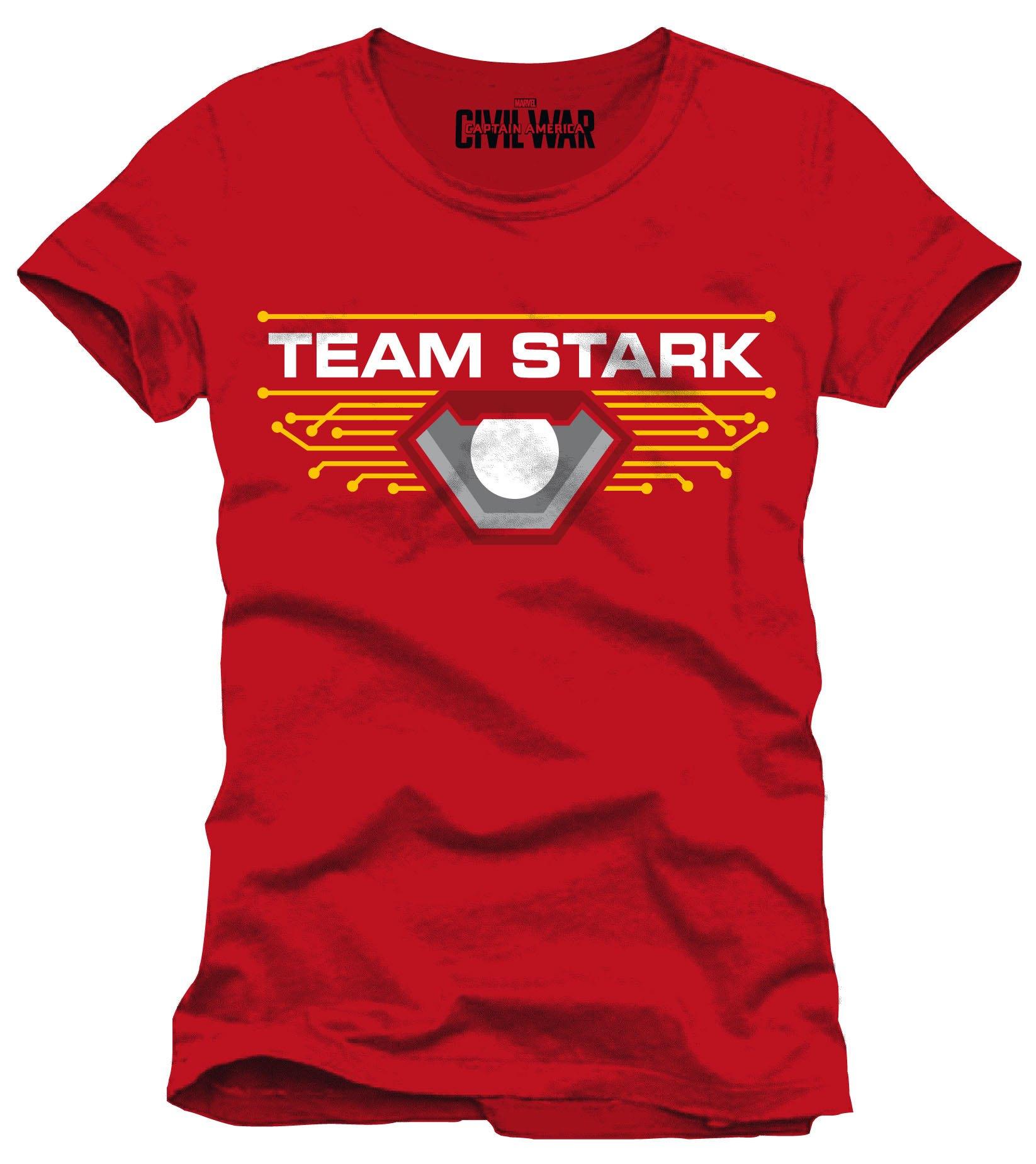 Captain America Civil War T-Shirt Team Stark Size XL
