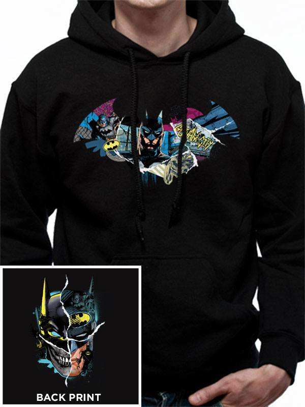 DC Comics Hooded Sweater Batman Gotham Face Size L