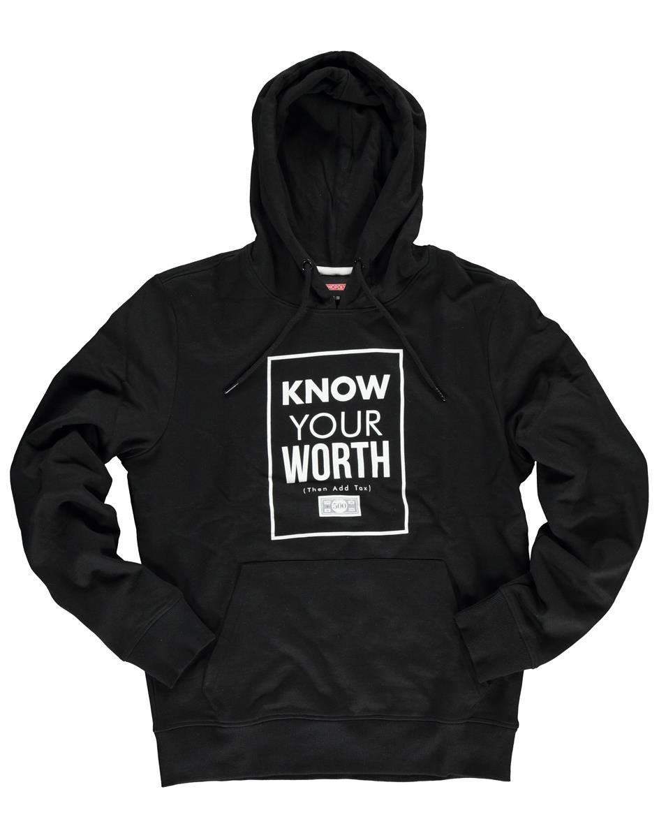 Monopoly Hooded Sweater Know Your Worth Size L