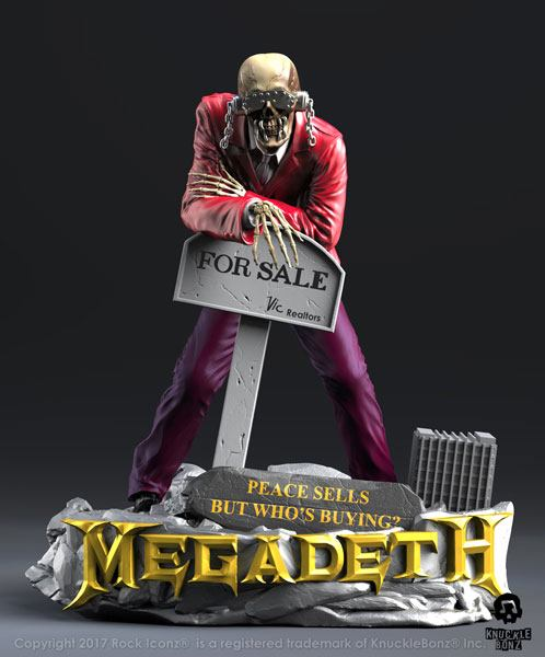 Megadeth Rock Iconz Statue Peace Sells Vic Rattlehead 23 cm