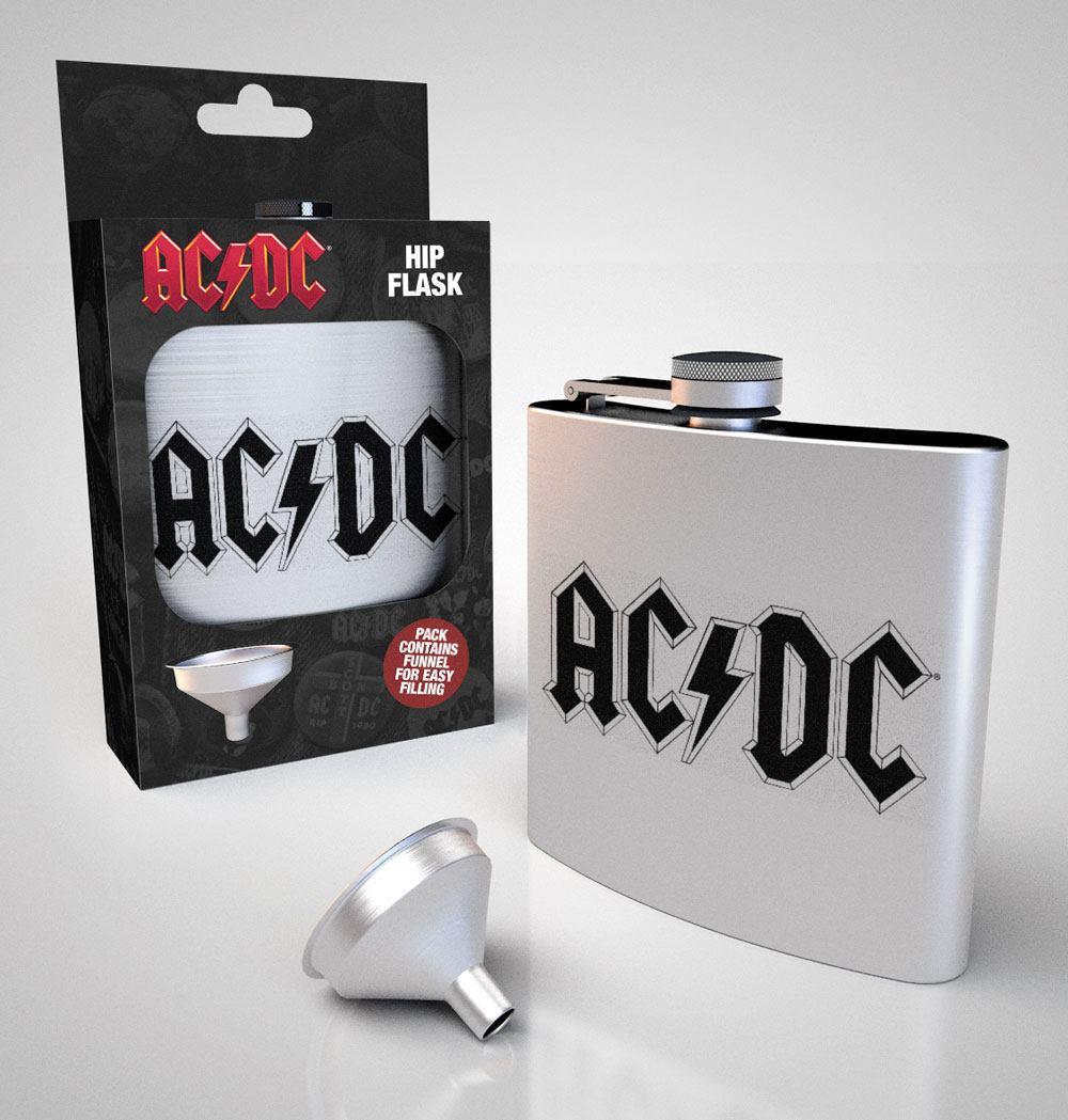 AC/DC Hip Flask Logo