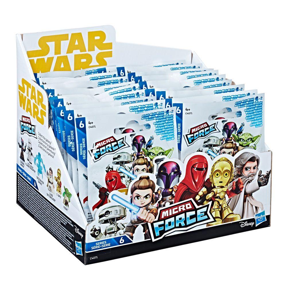 Star Wars Micro Force Mini Figures Blind Bags 2018 Series 6 Display (24)