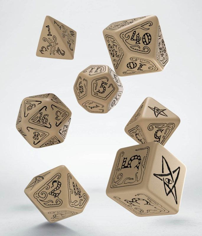 Call of Cthulhu Dice Set beige & black (7)