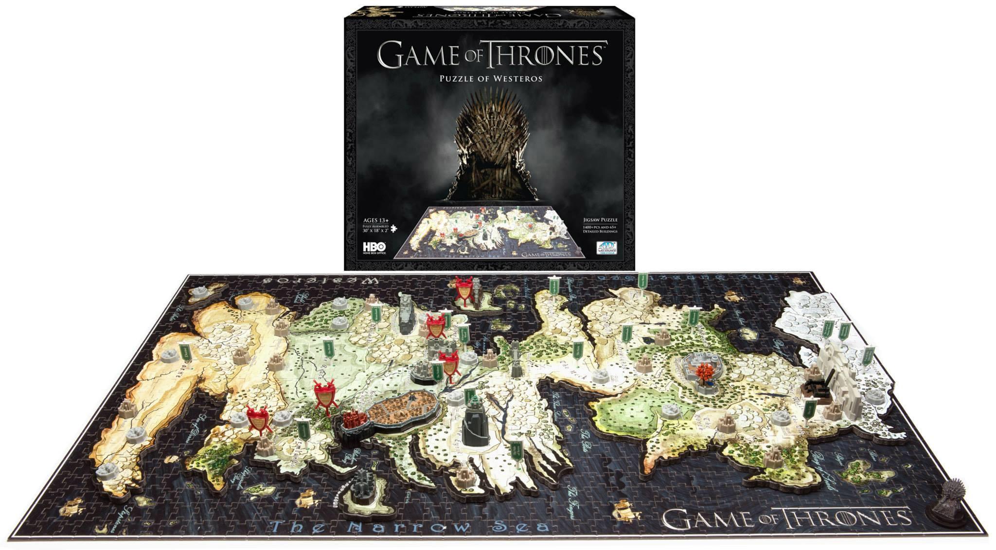 Game of Thrones 3D Puzzle Westeros (1400 pieces)