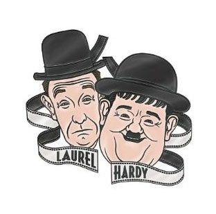 Laurel and Hardy Metal Pin Comedy and Tragedy