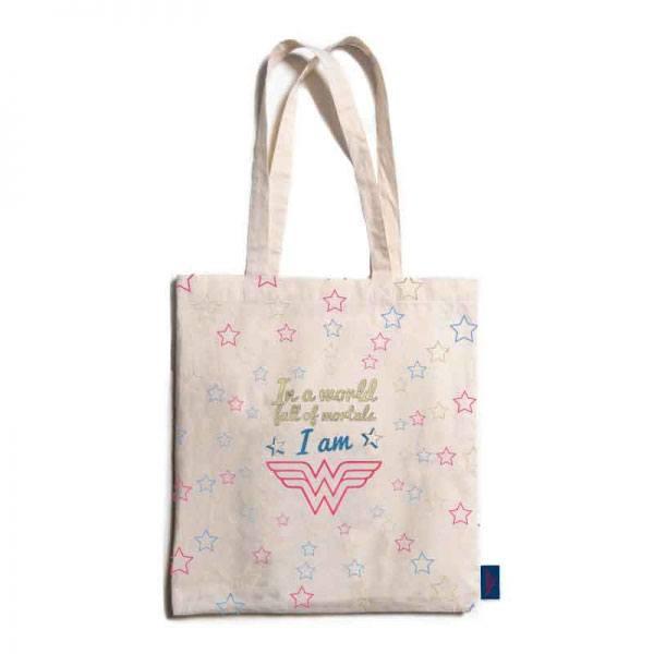 Wonder Woman Shopping Bag Stars
