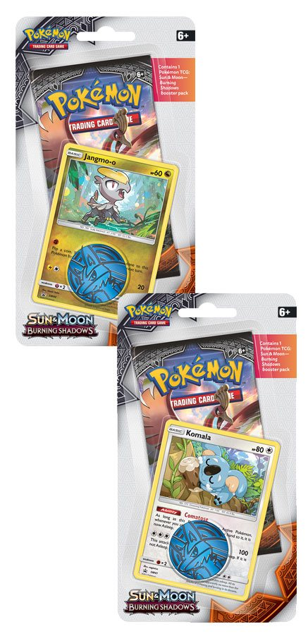 Pokemon Sun and Moon 3 Burning Shadows Checklane Blister Display (16) *English Version*