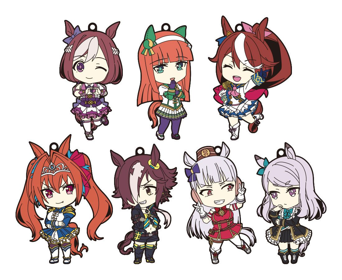 Uma Musume Pretty Derby Nendoroid Plus Rubber Keychain 7-Pack 7 cm