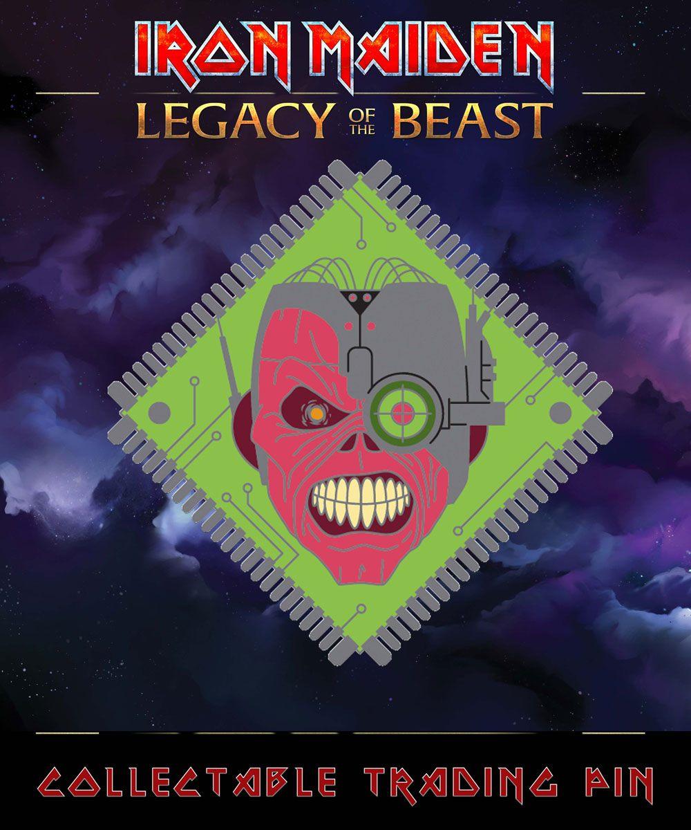 Iron Maiden Legacy of the Beast Pin Badge Cyborg Eddie