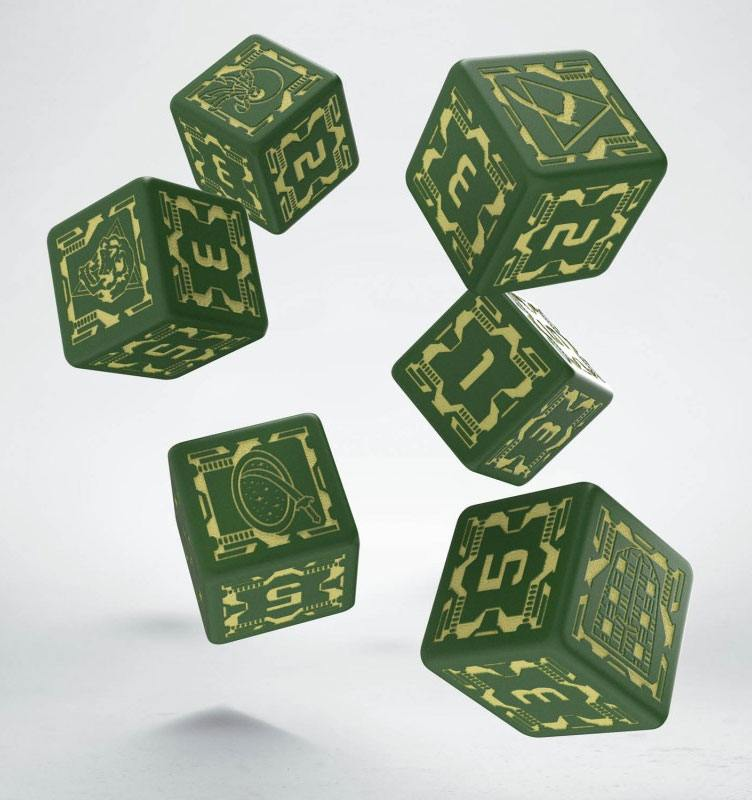Battletech Dice Set D6 House Liao (6)