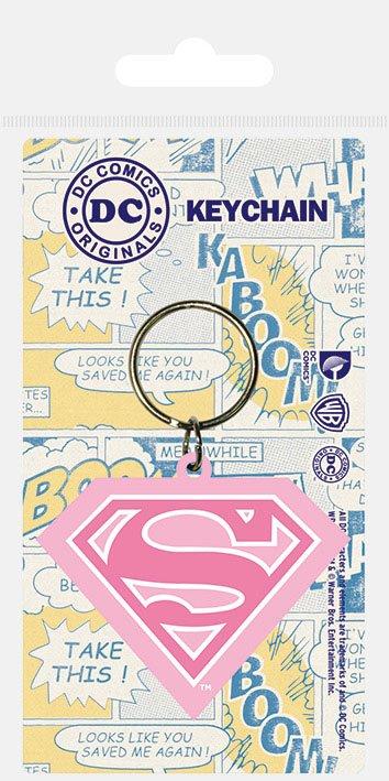 DC Comics Rubber Keychain Supergirl Shield 6 cm