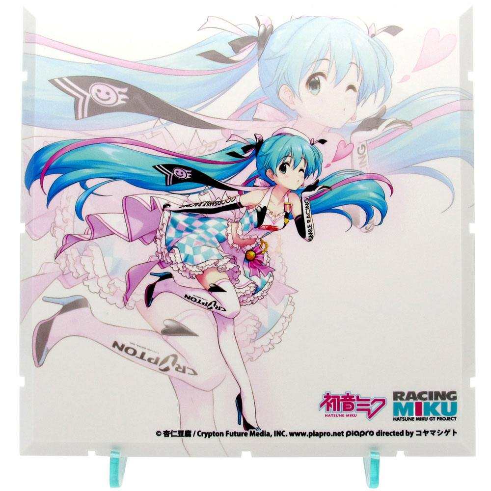 Dioramansion 150 Decorative Parts Racing Miku Pit 2019 Optional Panel (Key Visual 2)