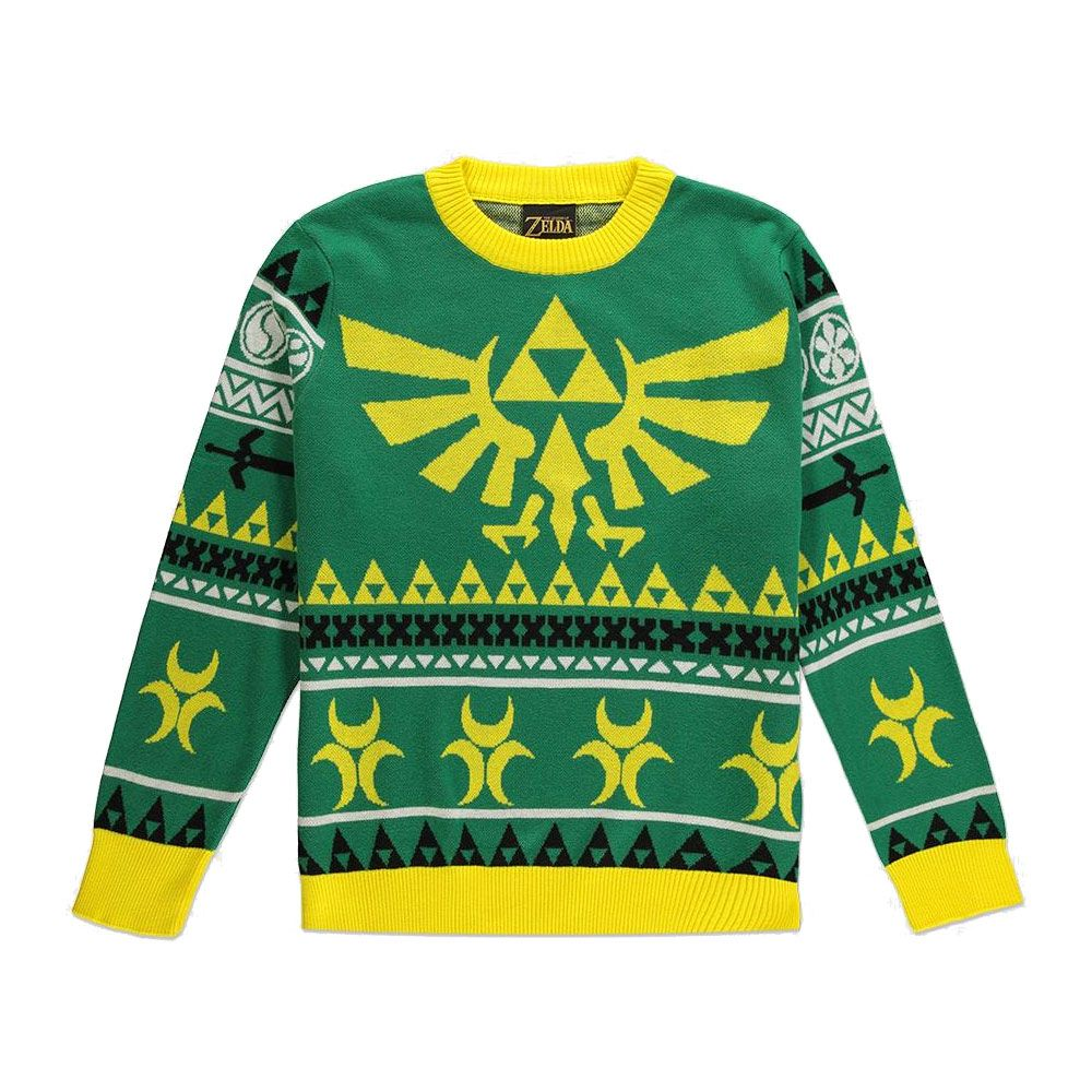 Legend of Zelda Knitted Christmas Sweater Hyrule Bright Size L