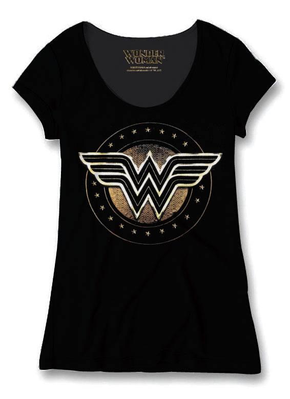 Wonder Woman Ladies T-Shirt W Logo Size XL