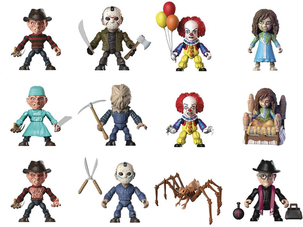 Horror Action Vinyl Mini Figures 8 cm Wave 1 Display (12)