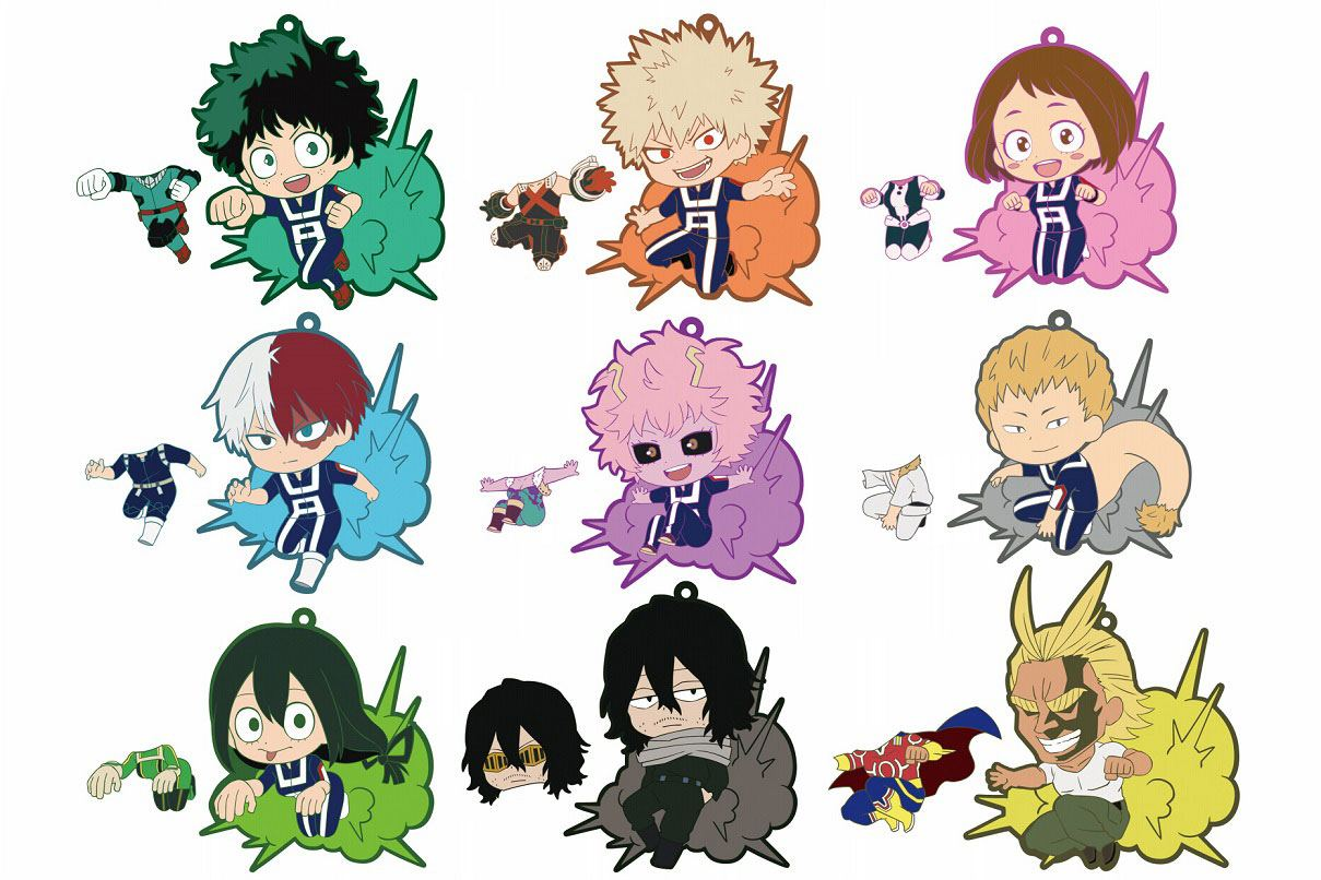 My Hero Academia Rubber Charms 7 cm Series 1 Assortment Toy'sworks Collection Niitengomu! (10)