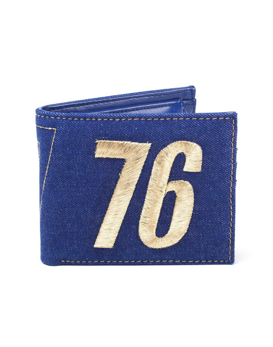 Fallout Bifold Wallet Vault 76 Vintage Denim