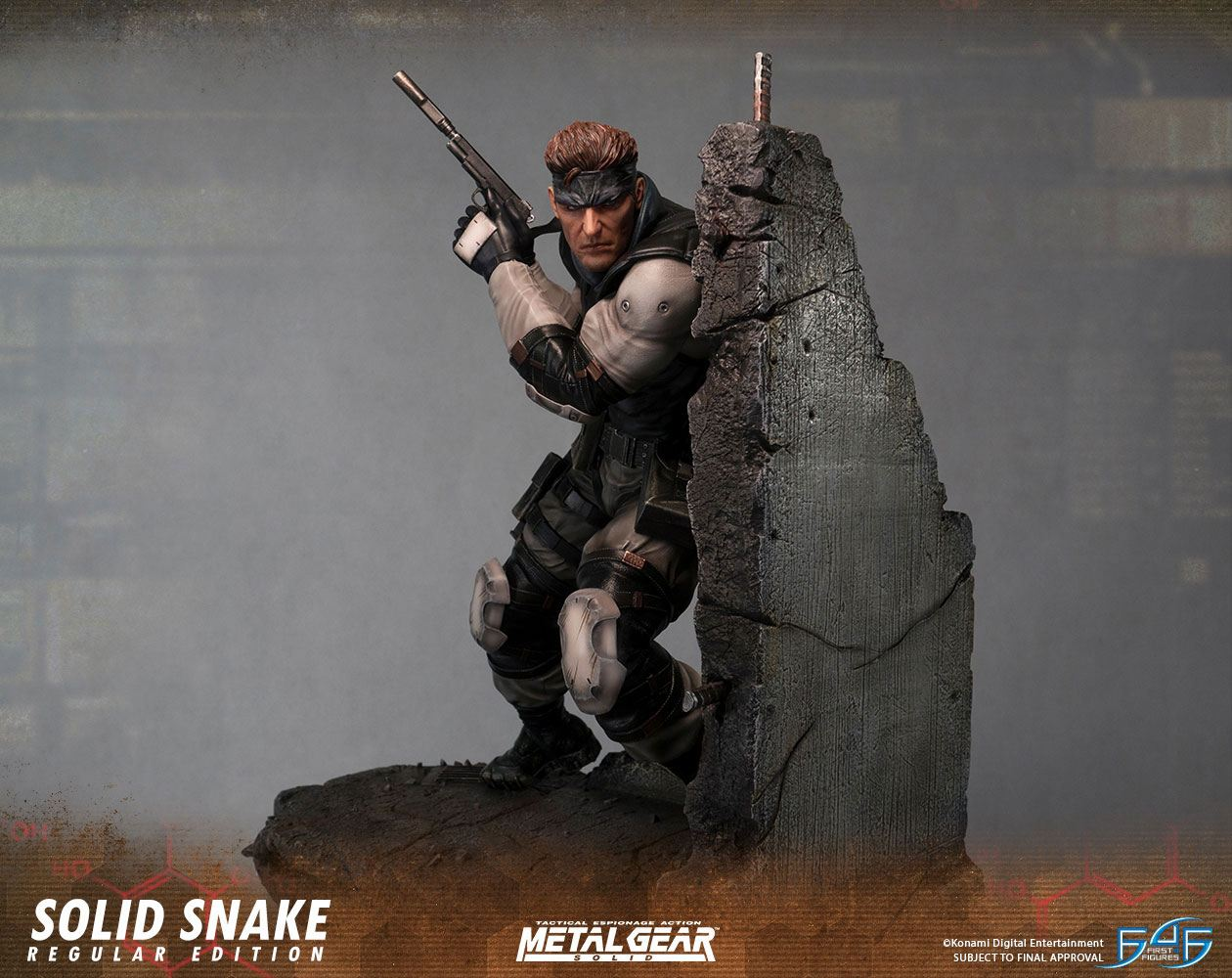 Metal Gear Solid Statue Solid Snake 44 cm