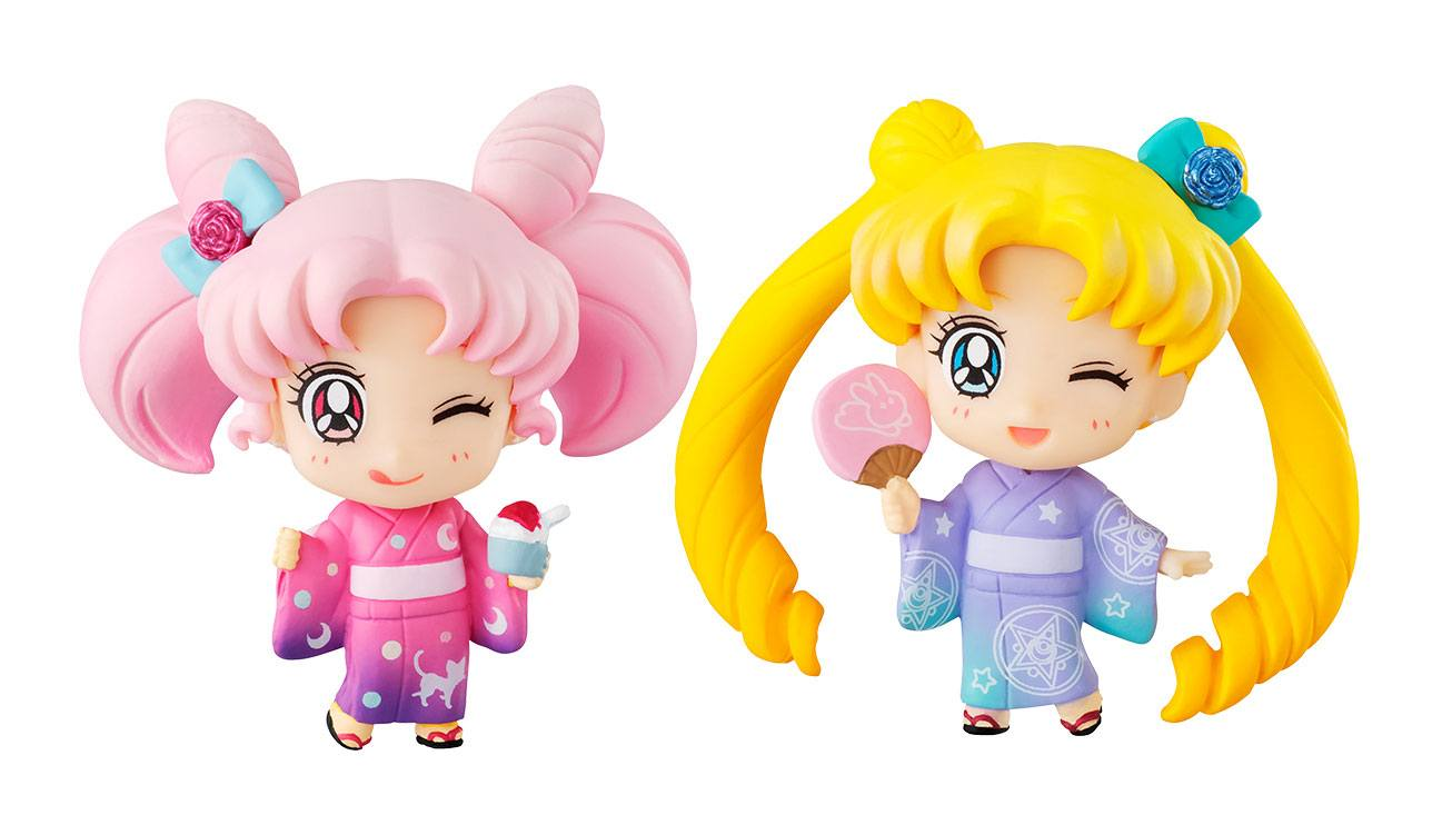 Sailor Moon Petit Chara Mini Figure 2-Pack Sailor Moon & Chibiusa Kyotobeni Ver. 5 cm