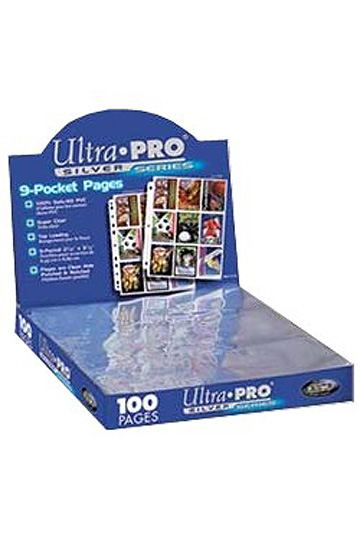 Ultra Pro 9 Pocket Pages Silver Series (100)