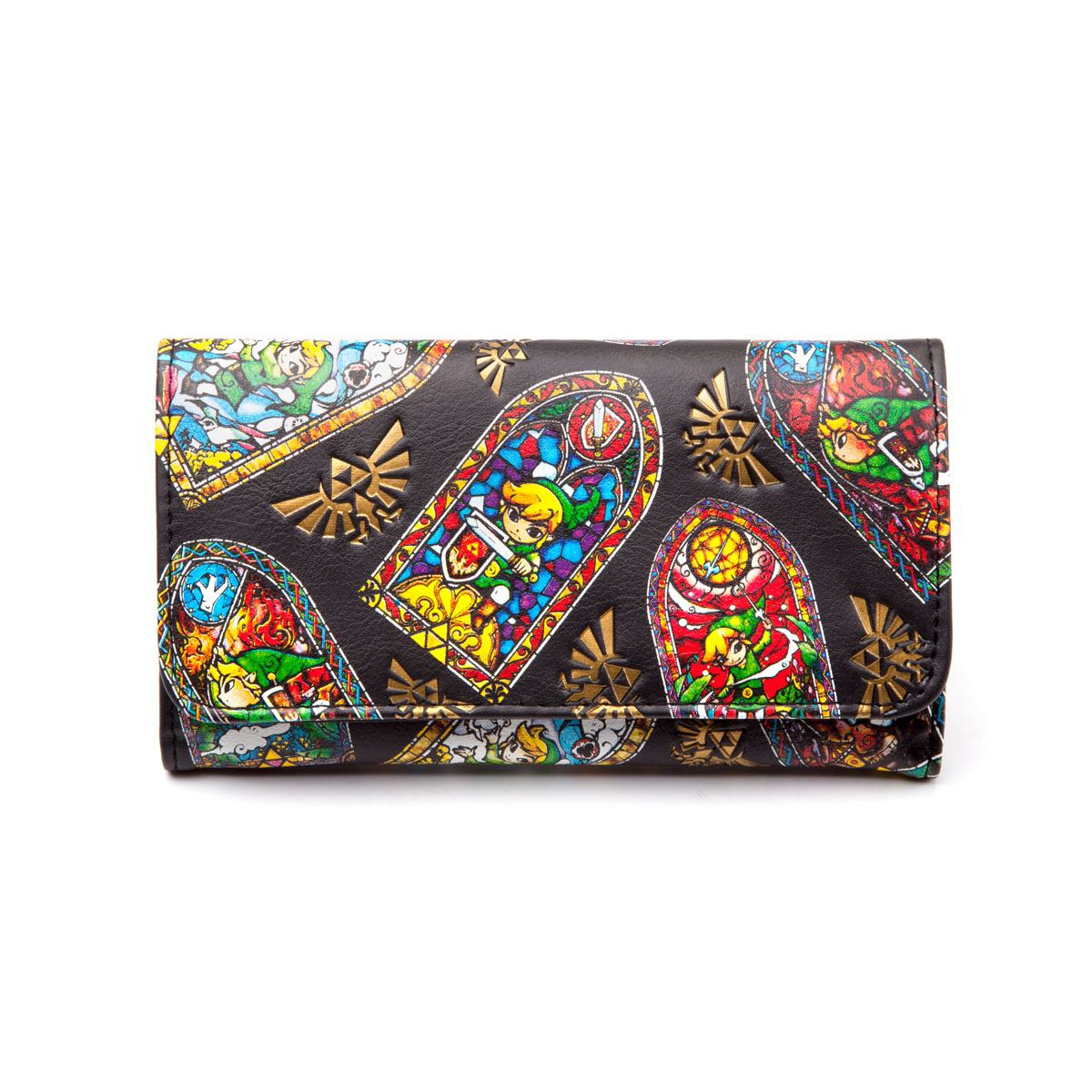 Nintendo Zelda Windows, Folded Wallet (Zwart)