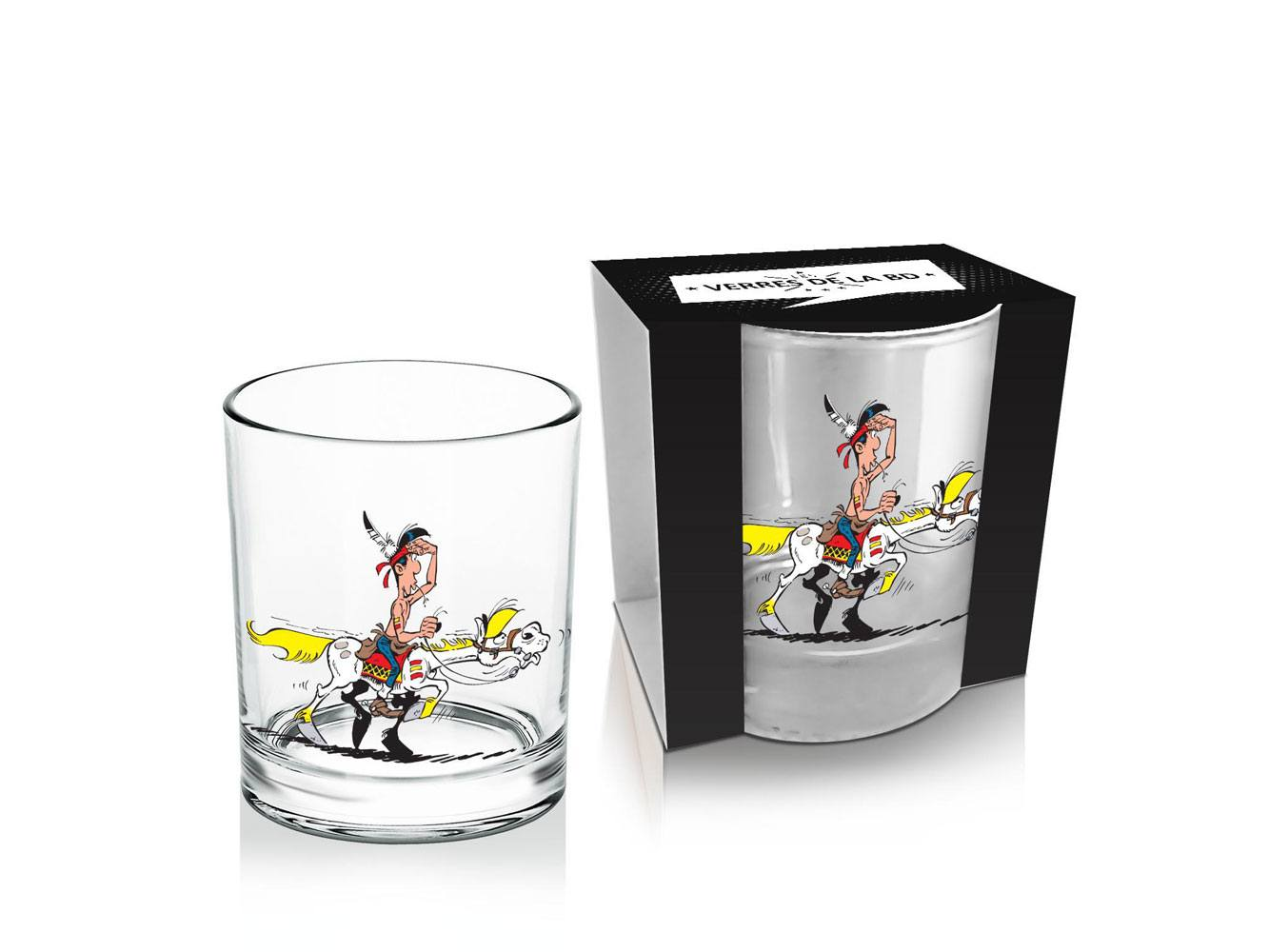 Lucky Luke Whisky Glass Luke & Jolly Jumper #1