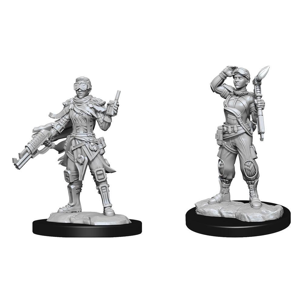 Starfinder Battles Deep Cuts Unpainted Miniatures Human Mechanic Case (2)