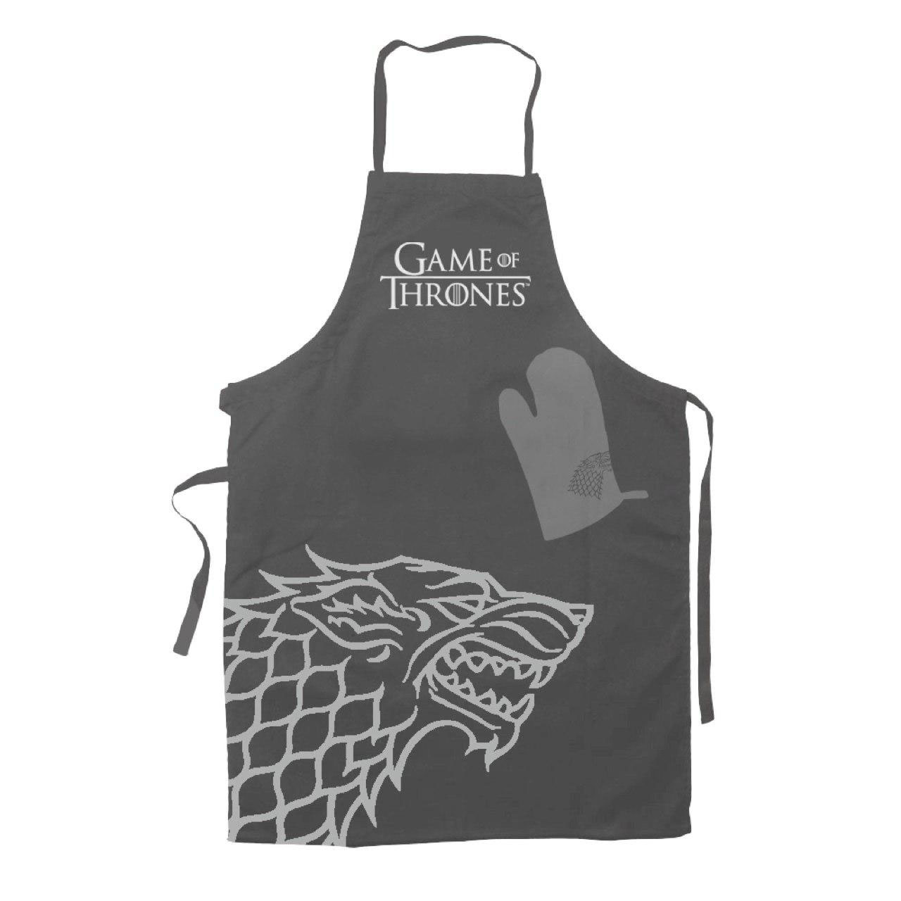 Game of Thrones cooking apron with oven mitt Stark