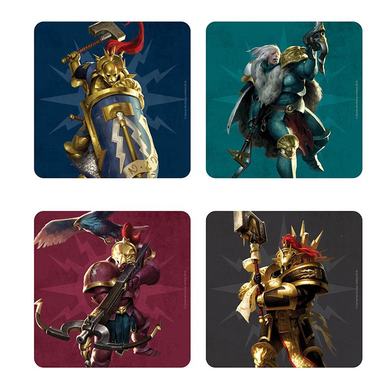 Warhammer Age of Sigmar Coaster 4-Pack Stormcast