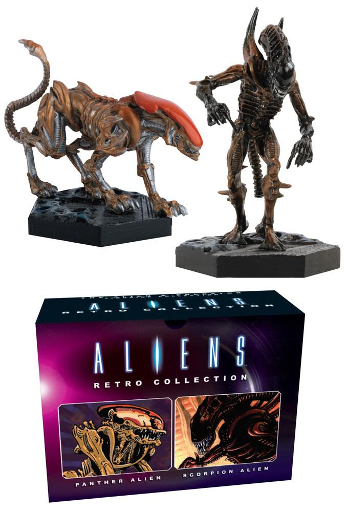 Aliens Retro Collection Figure 2-Pack Panther & Scorpion Alien 13 cm