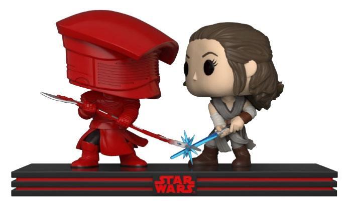 Star Wars POP! Movie Moments Vinyl Bobble-Head 2-Pack Rey & Praetorian Guard 9 cm