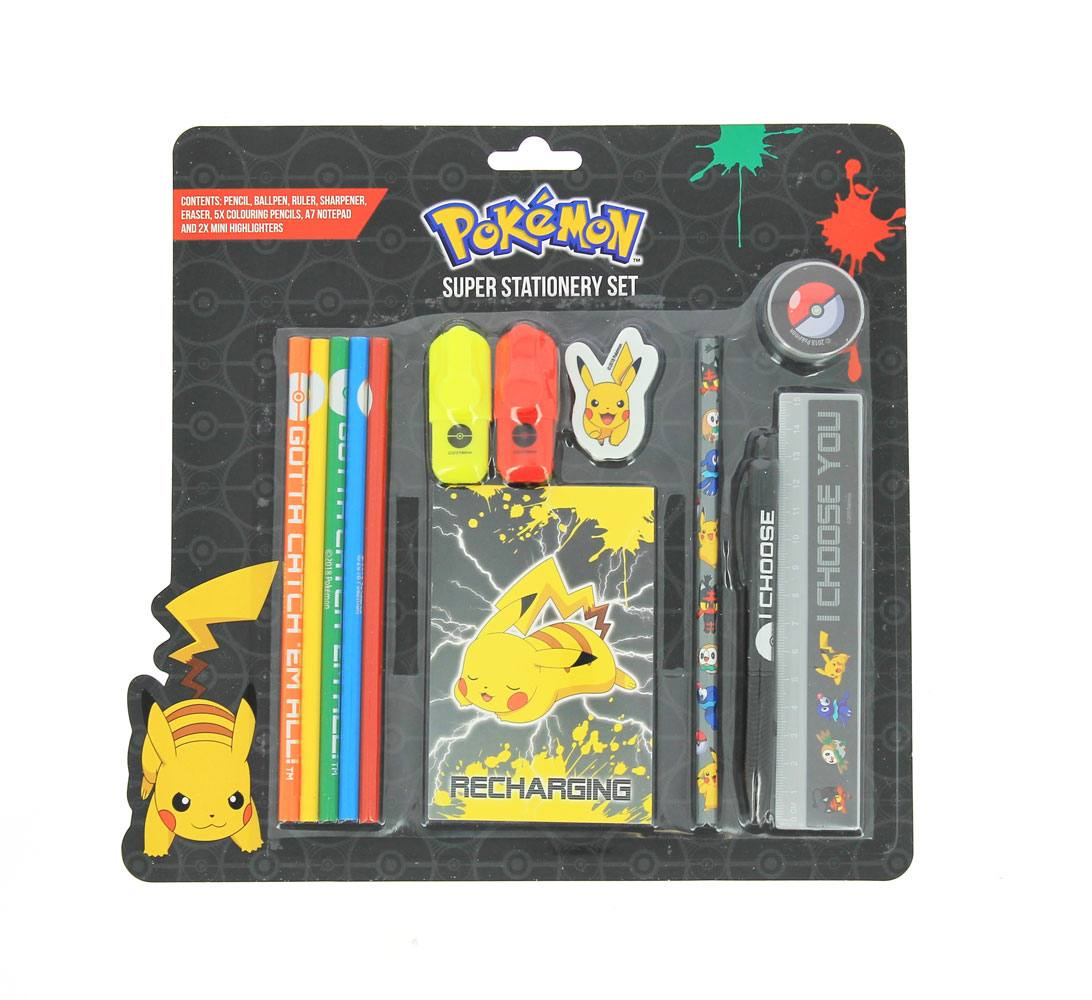 Pokemon XL Stationery Set I Choose You