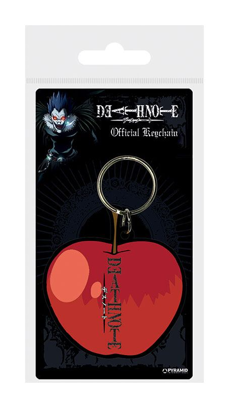 Death Note Rubber Keychain Apple 6 cm