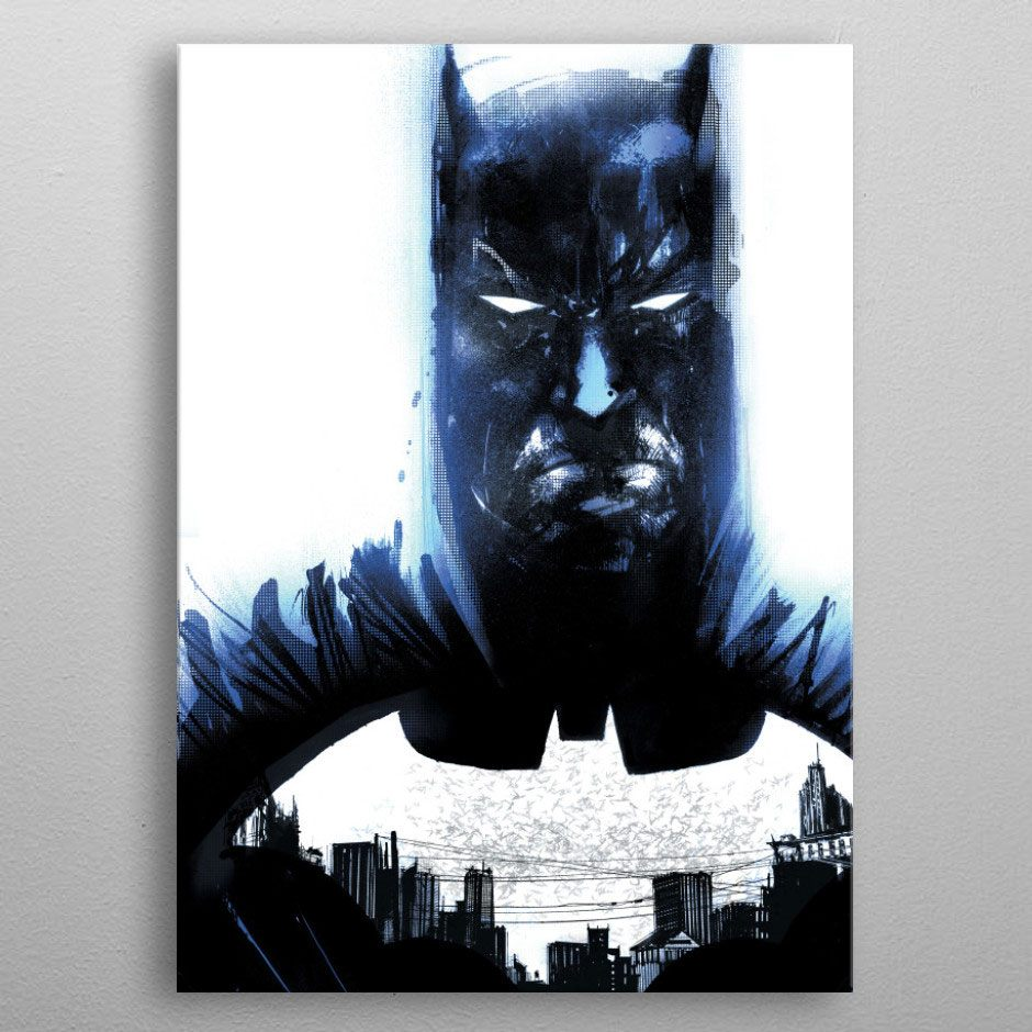 DC Comics Metal Poster Batman Light Absorption Heart of Gotham 10 x 14 cm
