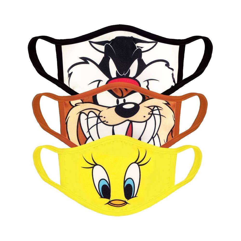 Looney Tunes Face Masks 3-Pack Core